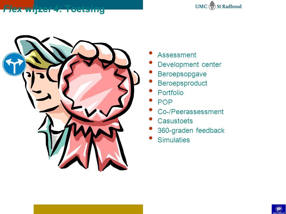 Flex wijzer 3: Voorwaardelijke know how Huidige niveau versus te ontwikkelen niveau: Deelcompetentie Vaardigheid Kennis Attitude Ervaring Normen en wa