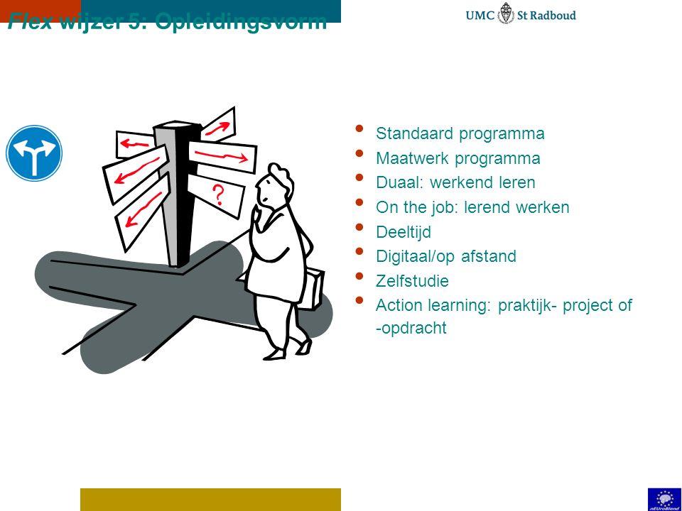 Flex wijzer 4: Toetsing Assessment Development center Beroepsopgave Beroepsproduct Portfolio POP Co-/Peerassessment Casustoets 360-graden feedback Sim