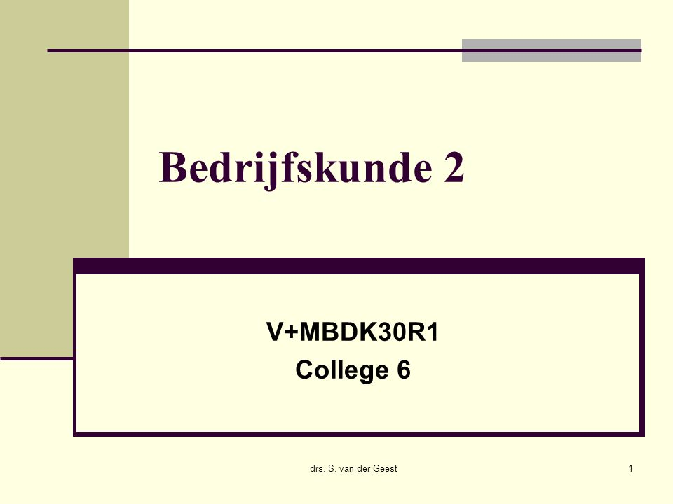 17/12/2015 drs. Sander van der Geest12 INK