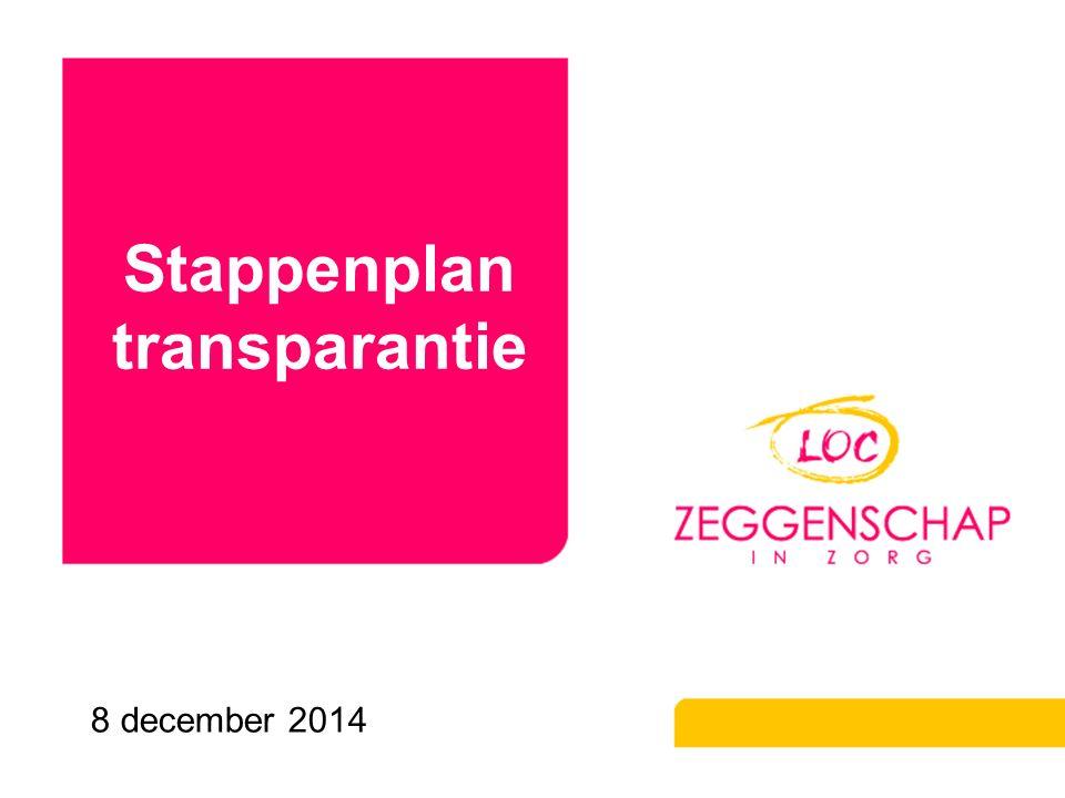 Stappenplan transparantie 8 december 2014