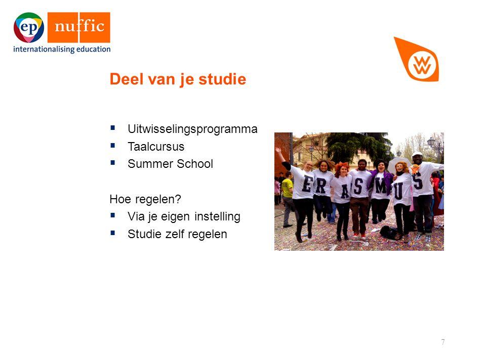 7  Uitwisselingsprogramma  Taalcursus  Summer School Hoe regelen.