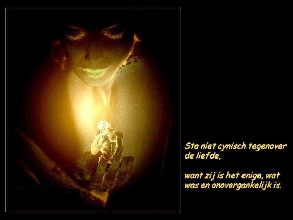 Vele mensen praten van hoge idealen, en overal worden heldendaden aangeprezen: blijf u zelve en huichel geen medegevoel.