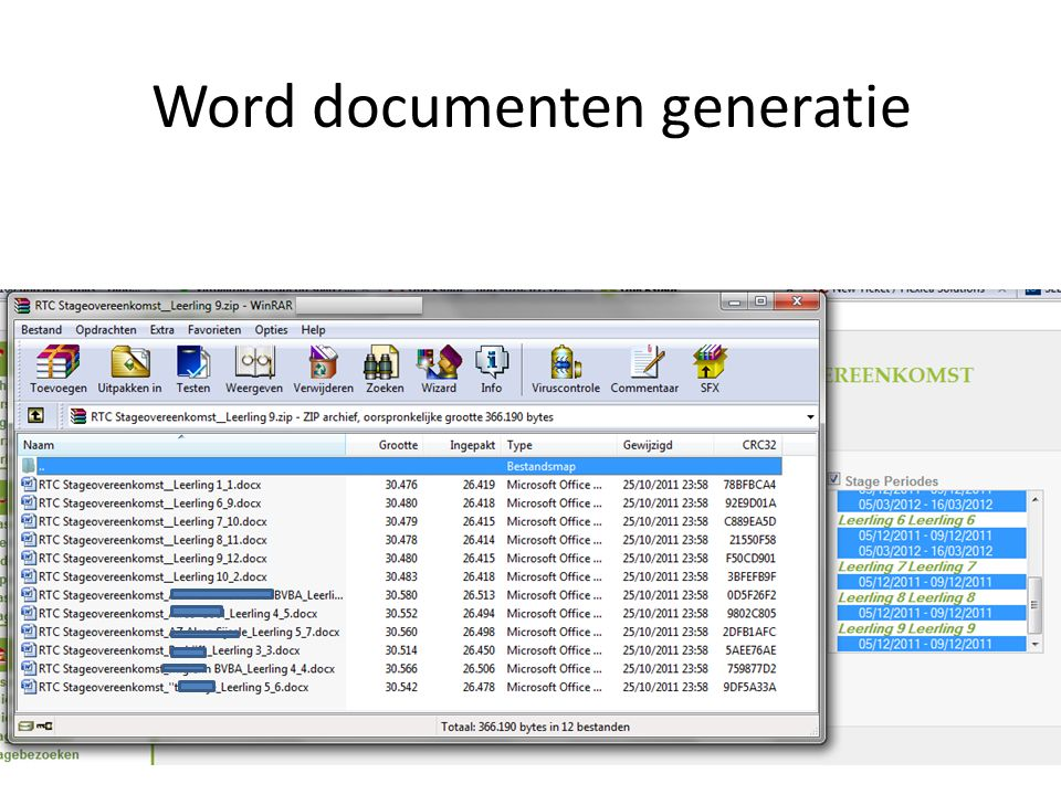 Word documenten generatie