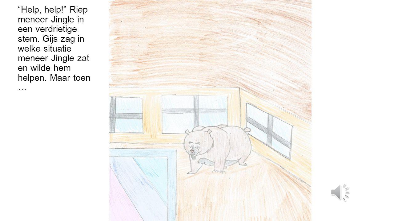 Gijs de super eekhoorn bonkte de deur open en rende naar binnen.