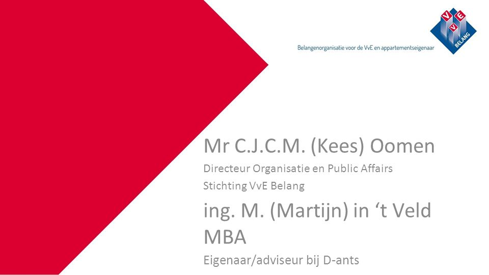 Klik om de titelstijl van het model te bewerken Mr C.J.C.M.
