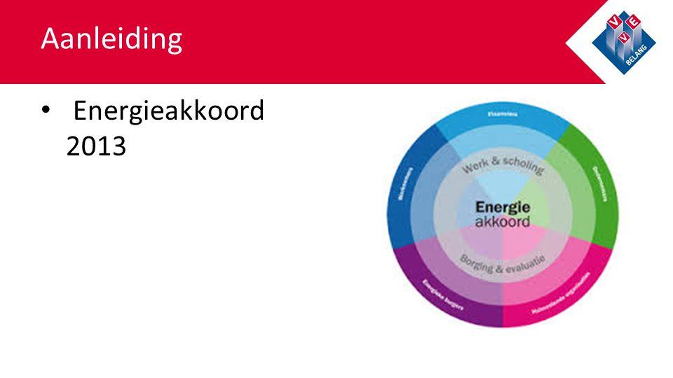 Aanleiding Energieakkoord 2013