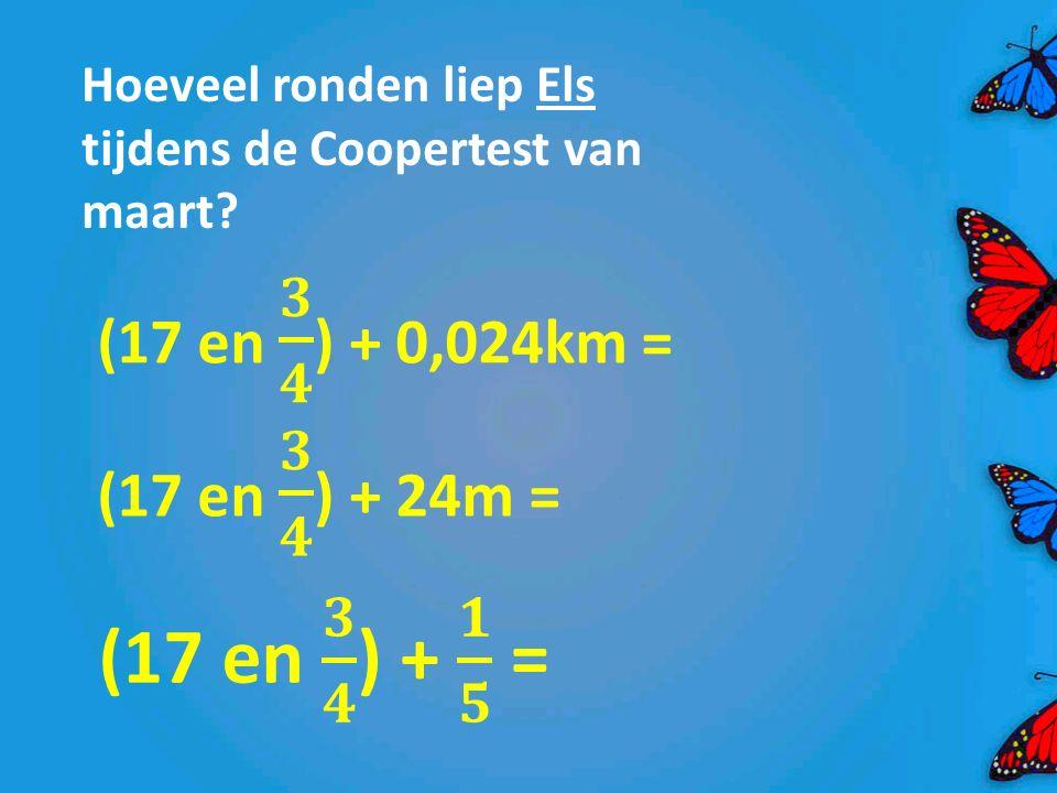 Hoeveel ronden liep Els tijdens de Coopertest van maart?