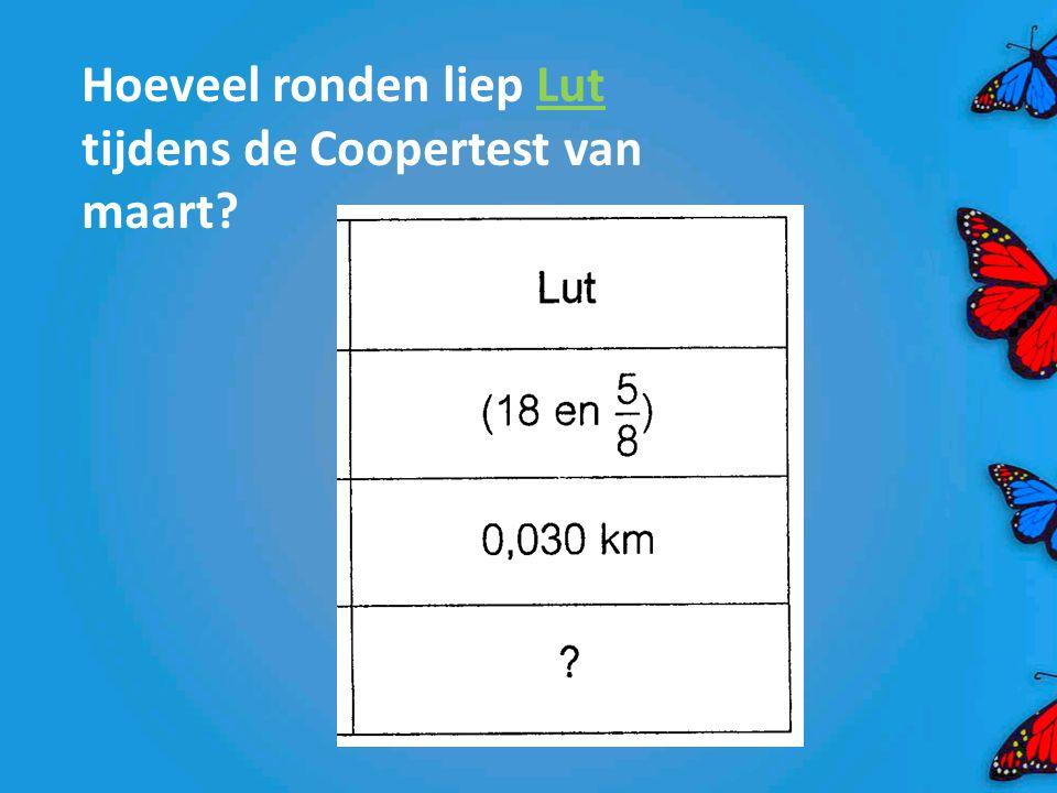 Hoeveel ronden liep Lut tijdens de Coopertest van maart?