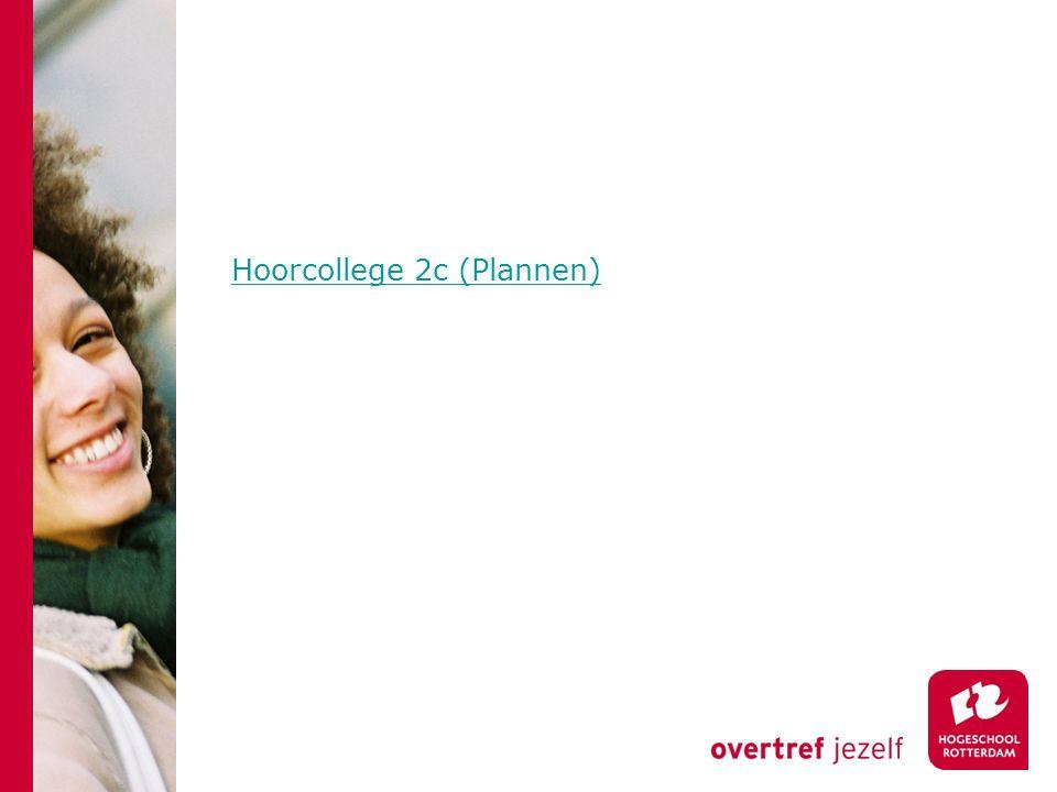 Hoorcollege 2c (Plannen)