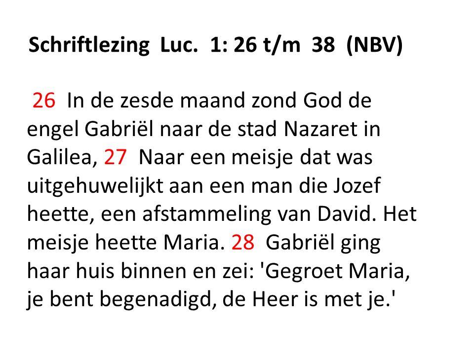 Schriftlezing Luc.
