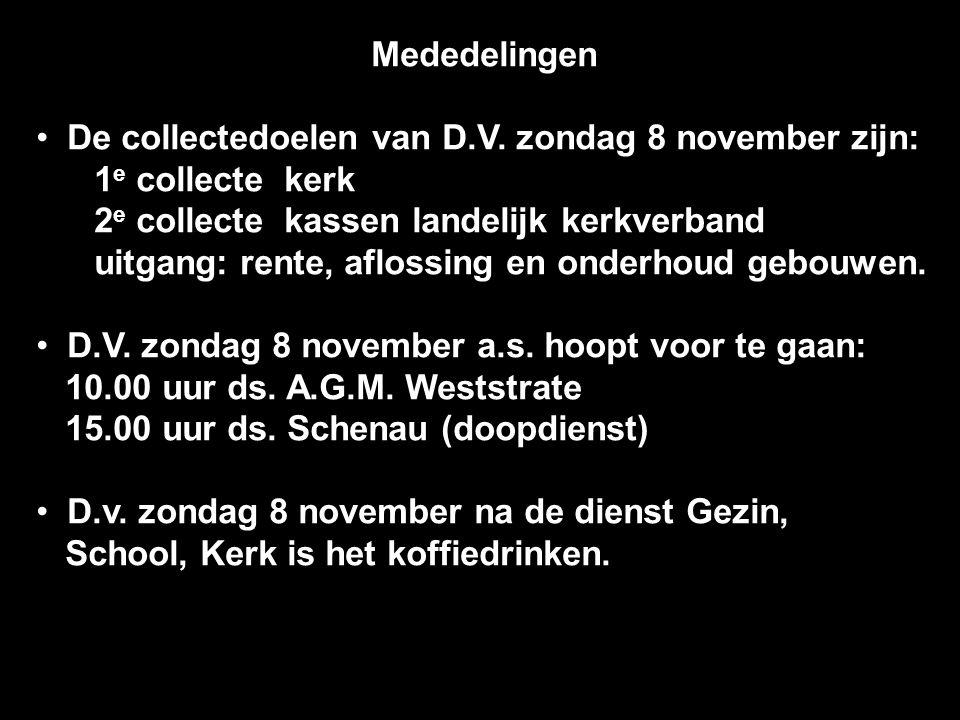 Mededelingen De collectedoelen van D.V.