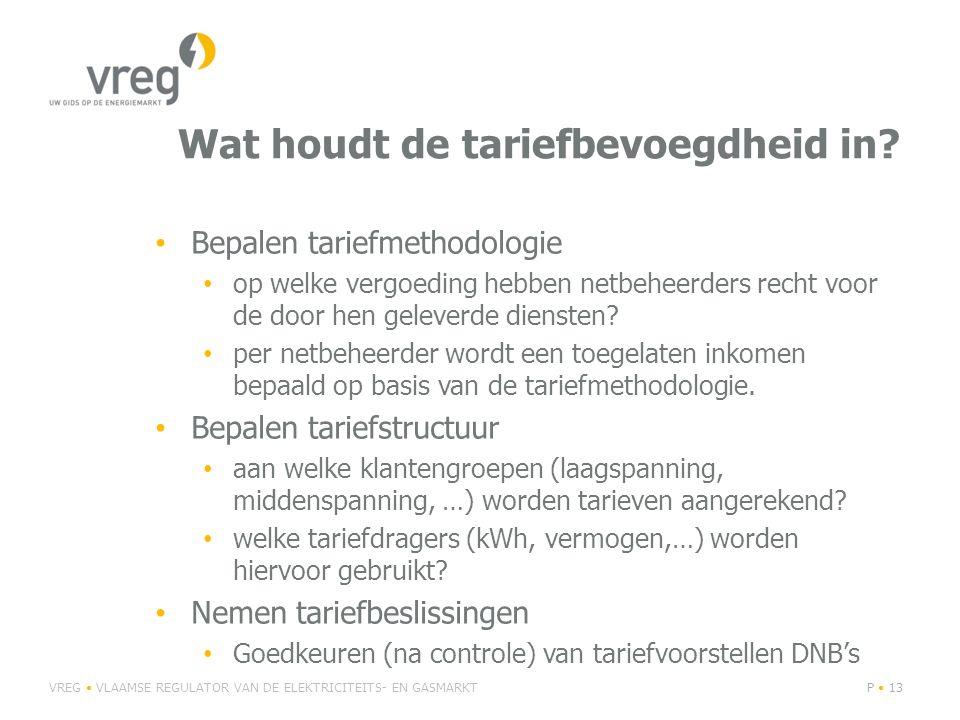 Wat houdt de tariefbevoegdheid in? Bepalen tariefmethodologie op welke vergoeding hebben netbeheerders recht voor de door hen geleverde diensten? per