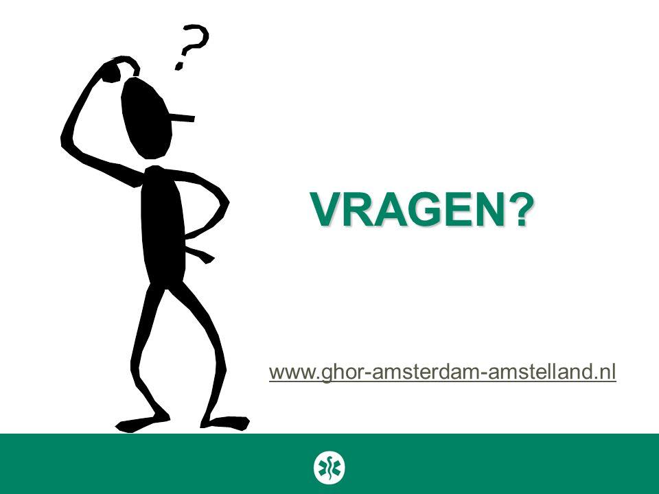 VRAGEN? www.ghor-amsterdam-amstelland.nl