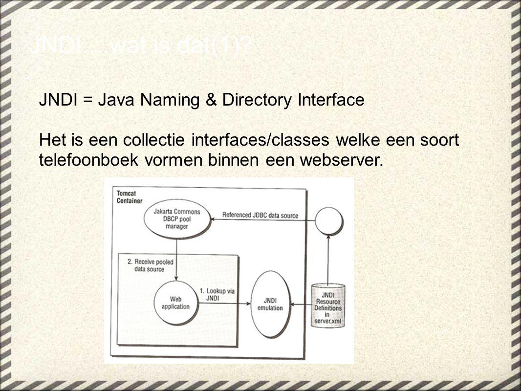 JNDI....wat is dat(2).De essentie van JNDI i.c.m.