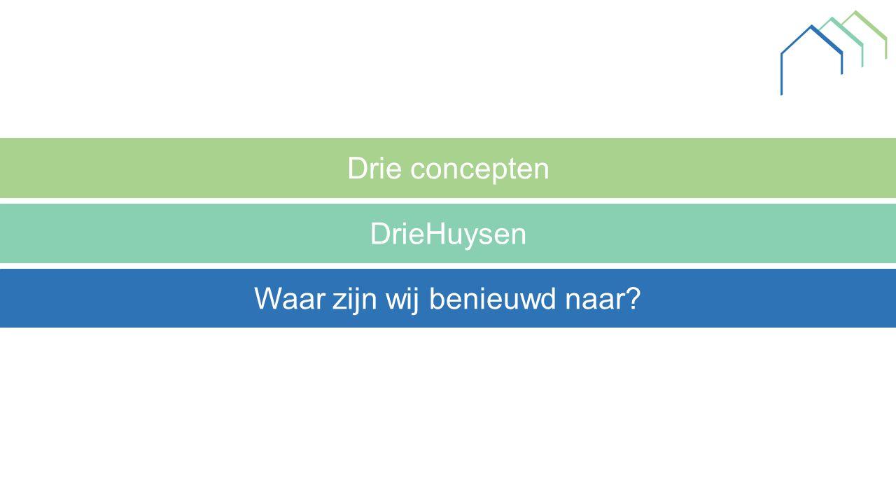 Drie concepten DrieHuysen Waar zijn wij benieuwd naar?