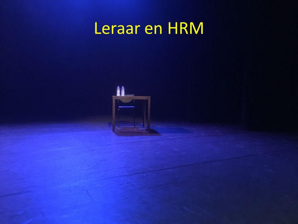 Leraar en HRM