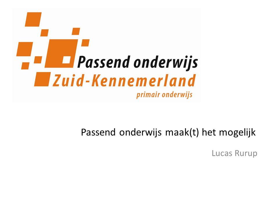 Lucas Rurup Passend onderwijs maak(t) het mogelijk