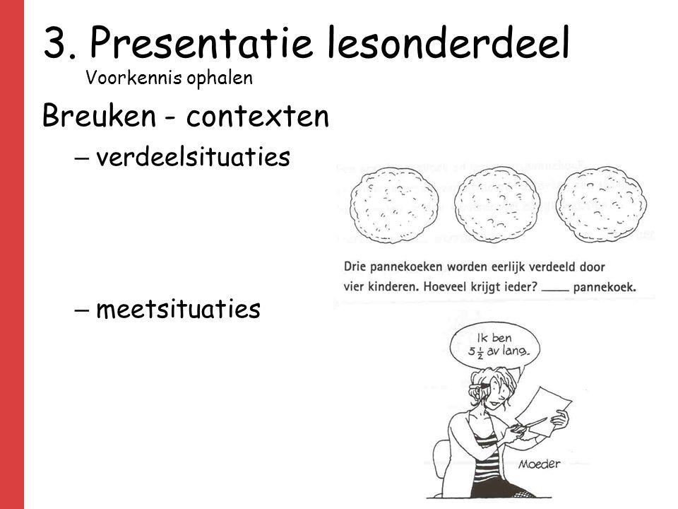 Breuken - contexten – verdeelsituaties – meetsituaties 3. Presentatie lesonderdeel Voorkennis ophalen