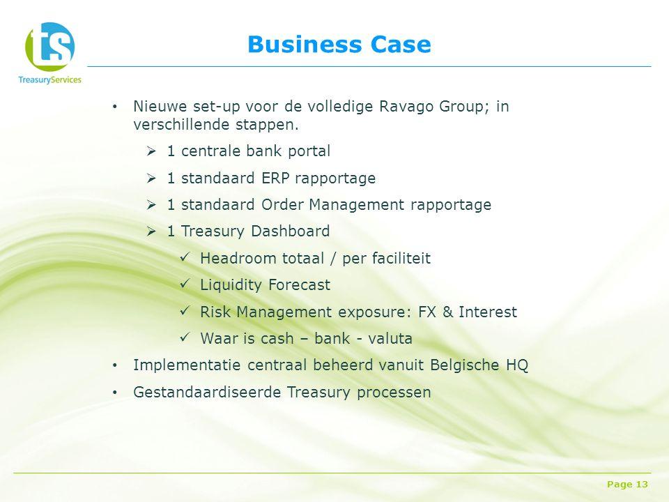 Business Case Page 13 Nieuwe set-up voor de volledige Ravago Group; in verschillende stappen.