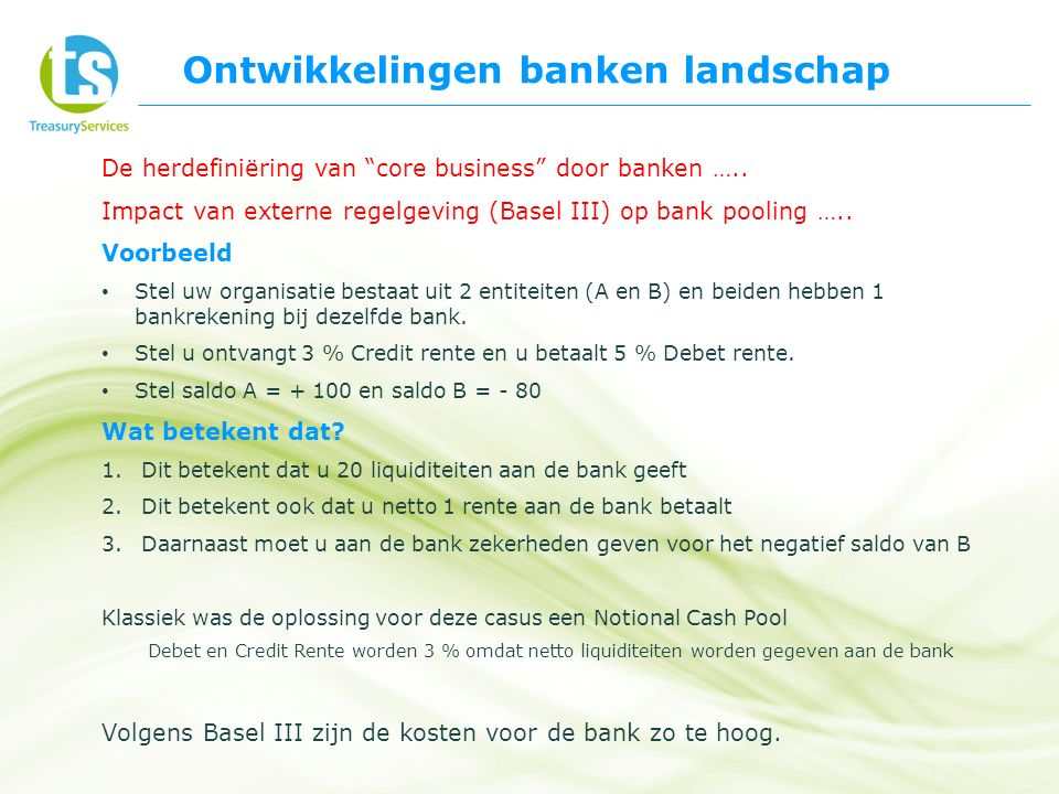 De herdefiniëring van core business door banken …..