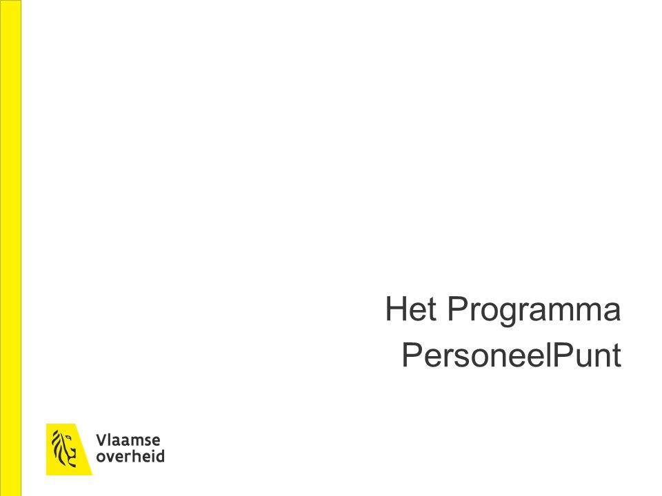 Het Programma PersoneelPunt