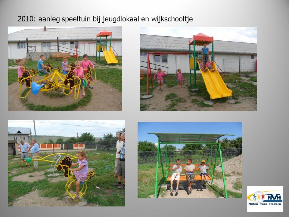 2010: aanleg speeltuin bij jeugdlokaal en wijkschooltje