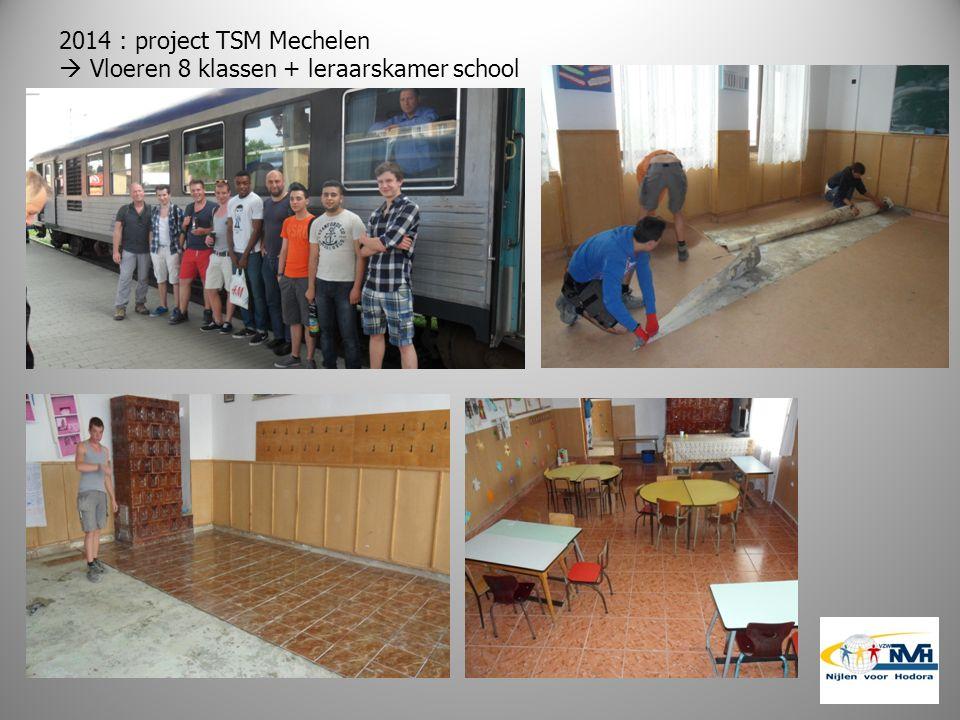 2014 : project TSM Mechelen  Vloeren 8 klassen + leraarskamer school