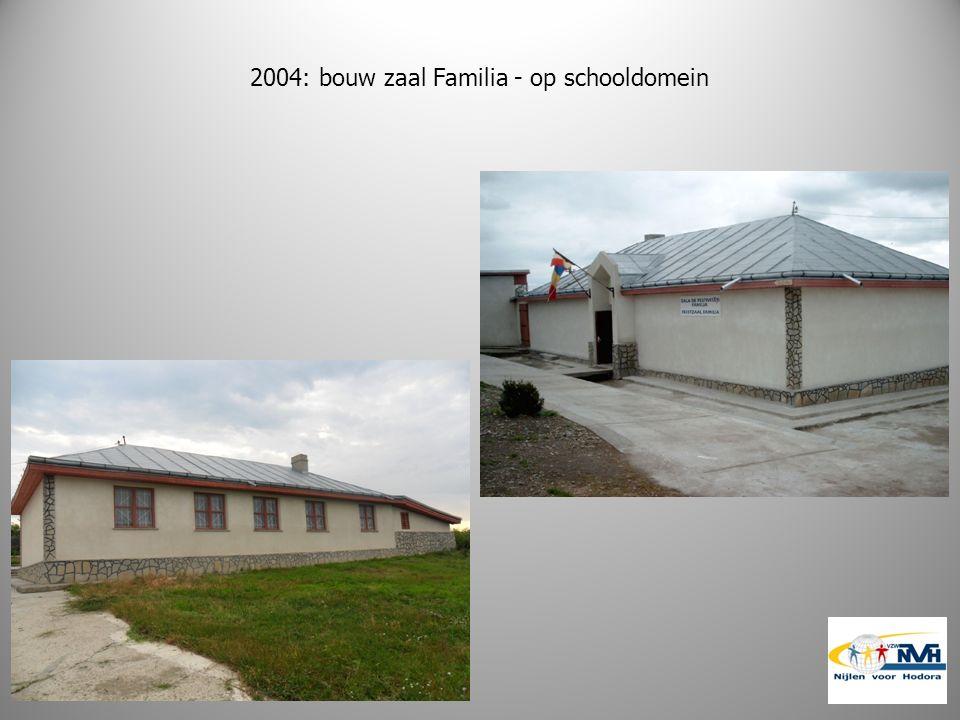 2004: bouw zaal Familia - op schooldomein