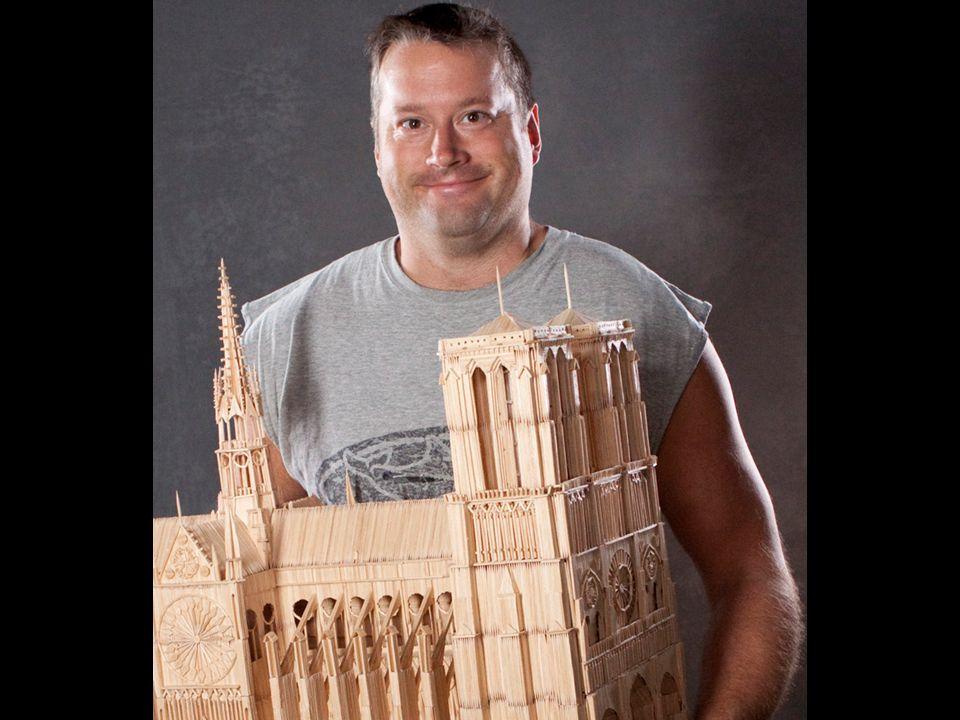 Stan Munro is 38 jaar en het koste hem 6 jaar om deze stad in tandenstokers te bouwen.