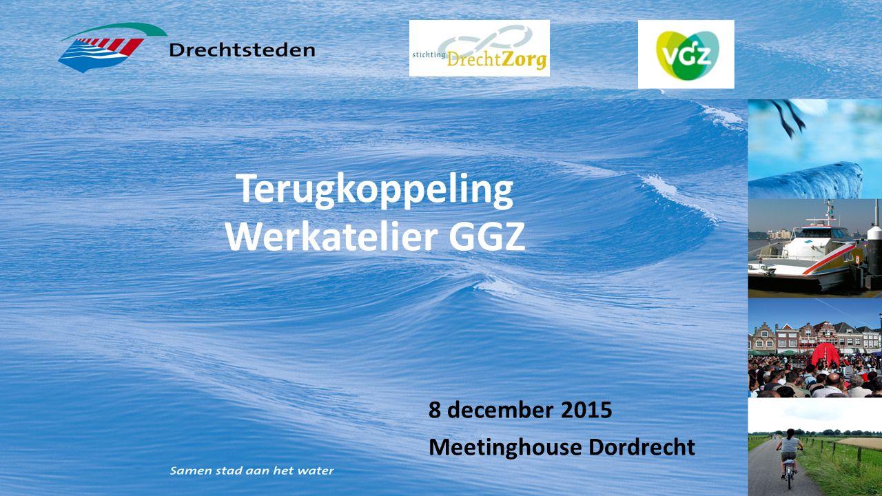 Terugkoppeling Werkatelier GGZ 8 december 2015 Meetinghouse Dordrecht