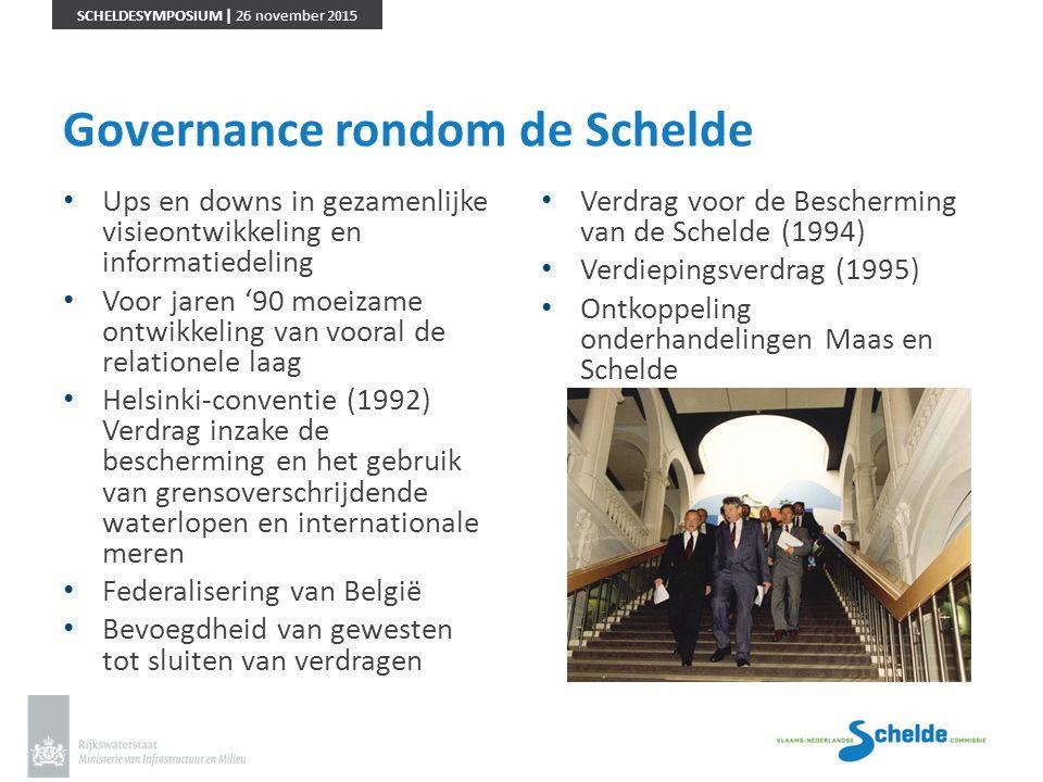 SCHELDESYMPOSIUM | 26 november 2015 Governance rondom de Schelde Ups en downs in gezamenlijke visieontwikkeling en informatiedeling Voor jaren '90 moe