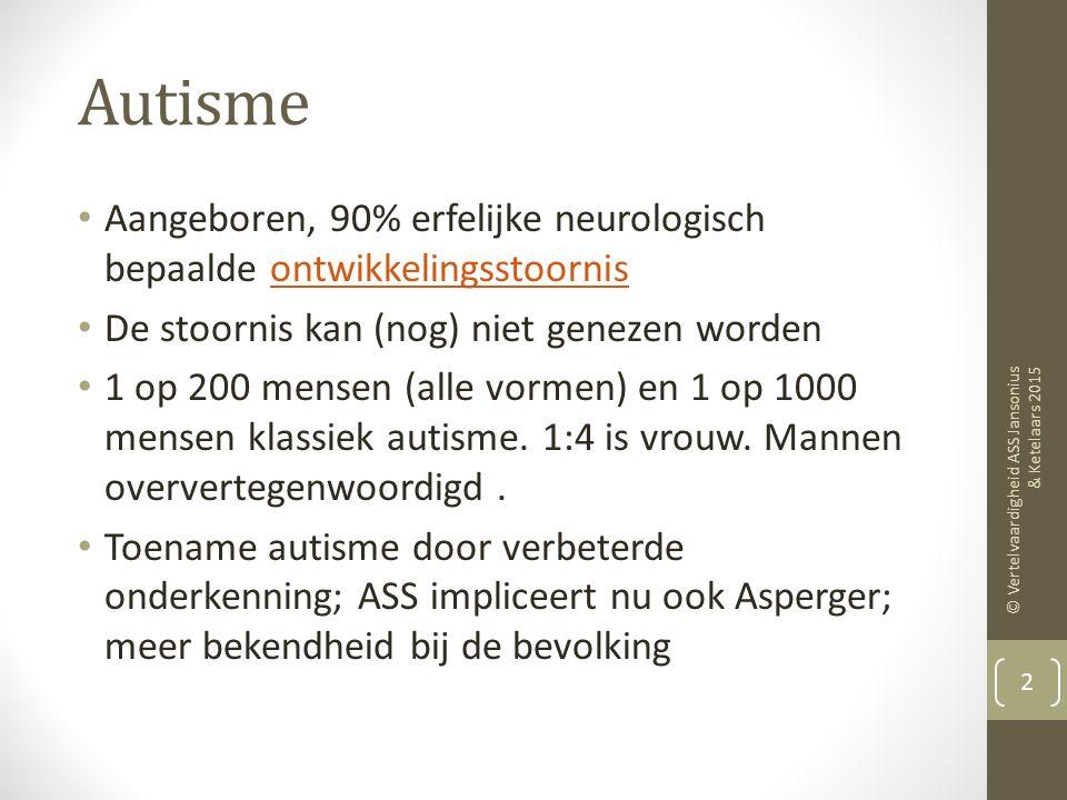 Karakteristieken van vertelvaardigheid bij jonge kinderen met een stoornis op het autistische spectrum Kino Jansonius ACLC UvA Amsterdam Mieke Ketelaa