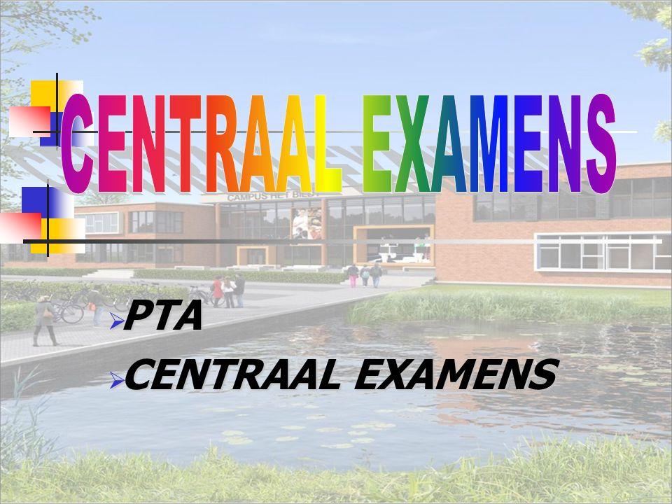  PTA  CENTRAAL EXAMENS