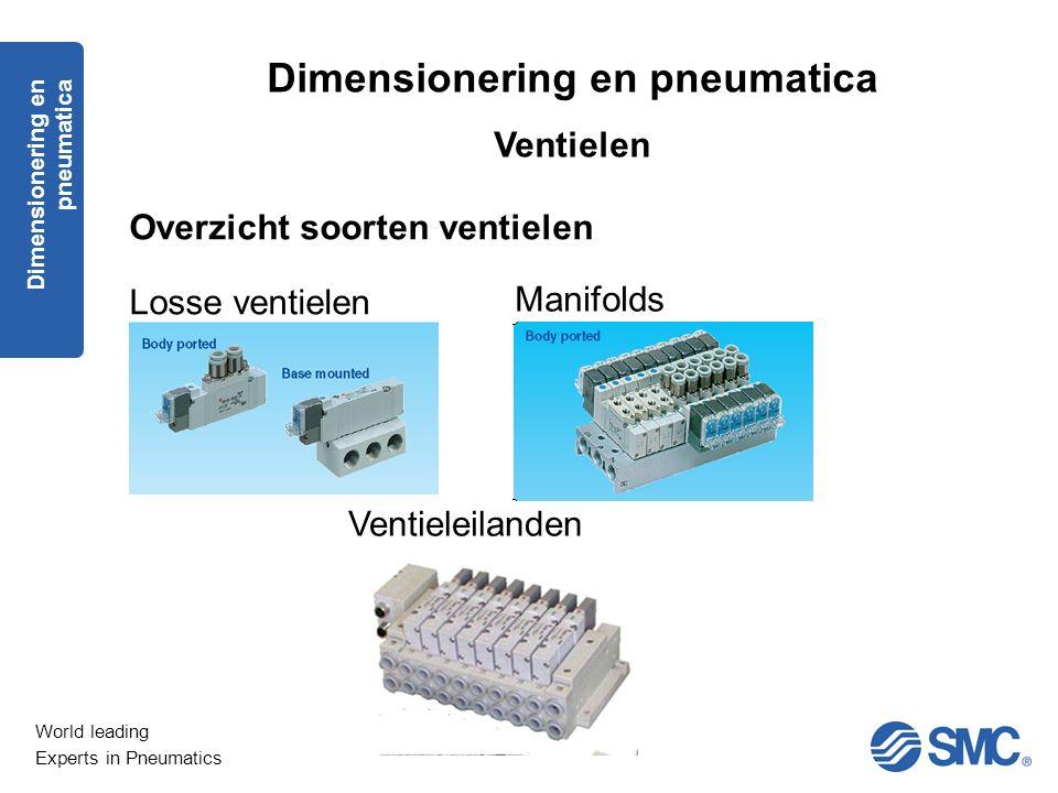 World leading Experts in Pneumatics Dimensionering en pneumatica Ventielen Overzicht soorten ventielen Losse ventielen Manifolds Ventieleilanden