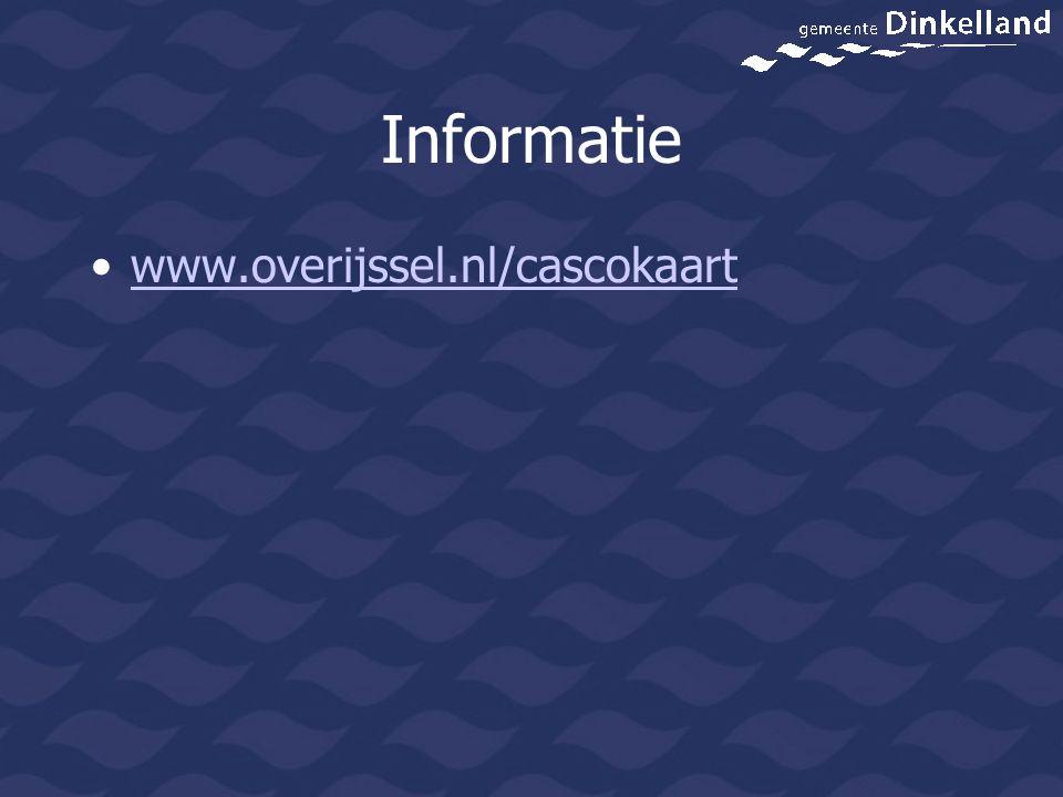 Informatie www.overijssel.nl/cascokaart