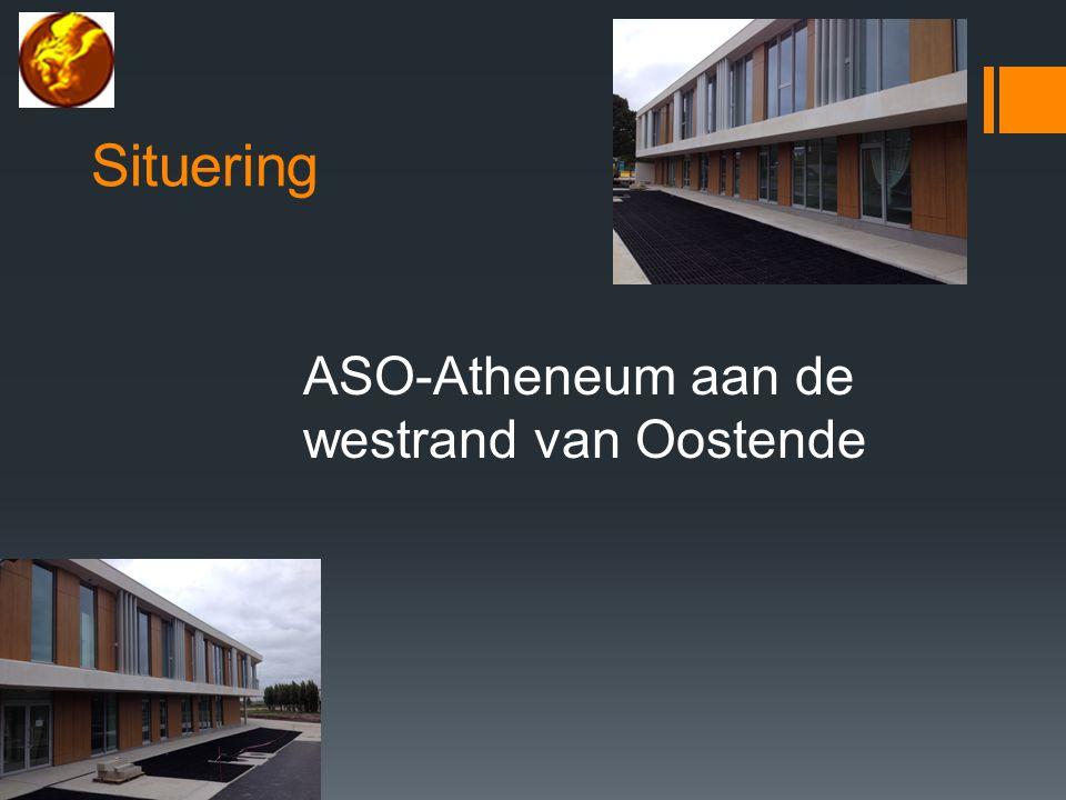 Situering ASO-Atheneum aan de westrand van Oostende