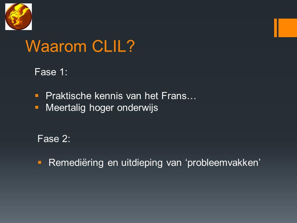 Waarom CLIL.
