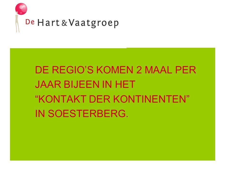 DE REGIO'S KOMEN 2 MAAL PER JAAR BIJEEN IN HET KONTAKT DER KONTINENTEN IN SOESTERBERG.