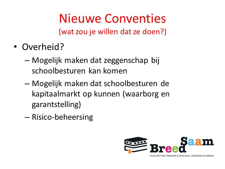 Nieuwe Conventies (wat zou je willen dat ze doen?) Overheid.