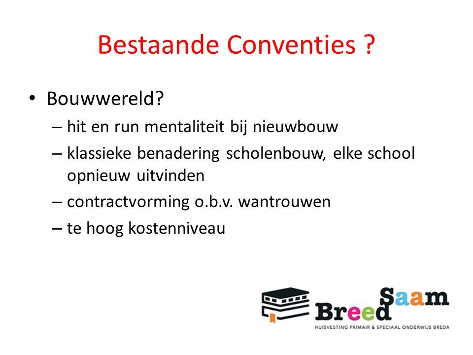 Bestaande Conventies . Bouwwereld.