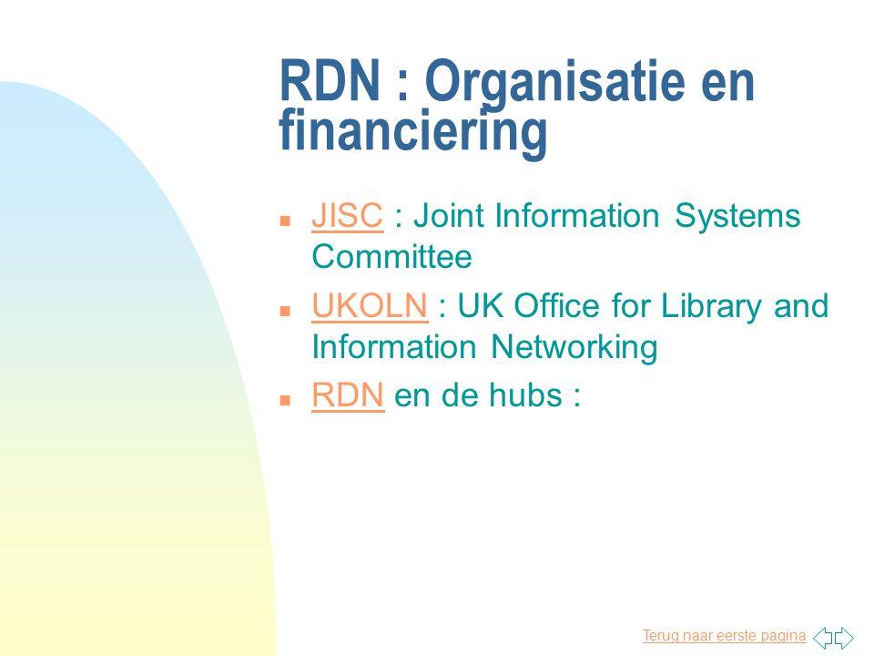Terug naar eerste pagina Discussieonderwerpen n organisatie en financiering n functionaliteit van RDN n Humbul, haar organisatie en faciliteiten Humbu