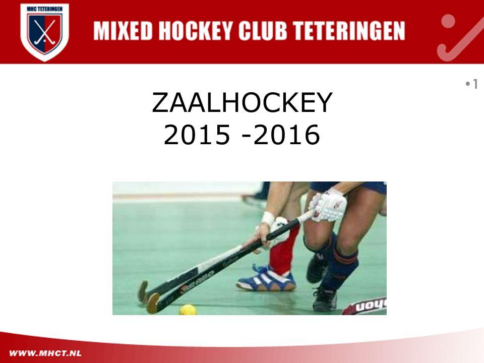 1 ZAALHOCKEY 2015 -2016