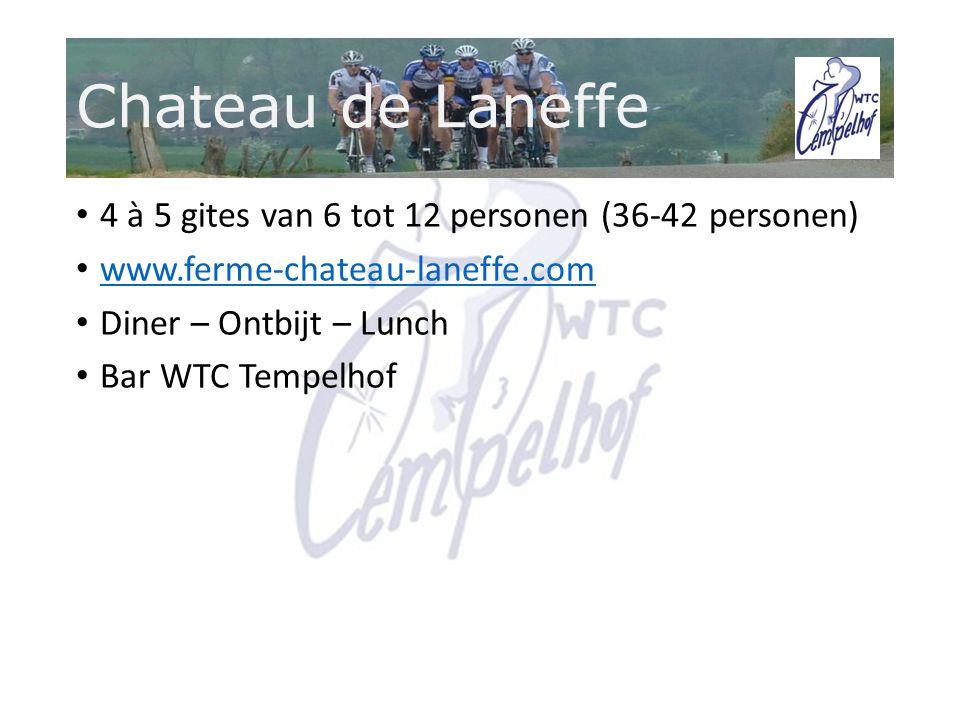 4 à 5 gites van 6 tot 12 personen (36-42 personen) www.ferme-chateau-laneffe.com Diner – Ontbijt – Lunch Bar WTC Tempelhof