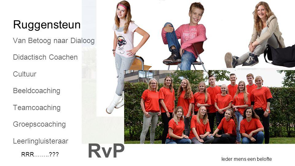 Ruggensteun Van Betoog naar Dialoog Didactisch Coachen Cultuur Beeldcoaching Teamcoaching Groepscoaching Leerlingluisteraar Ieder mens een belofte RRR