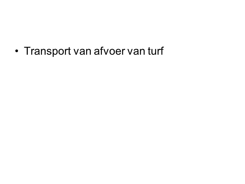 Transport van afvoer van turf