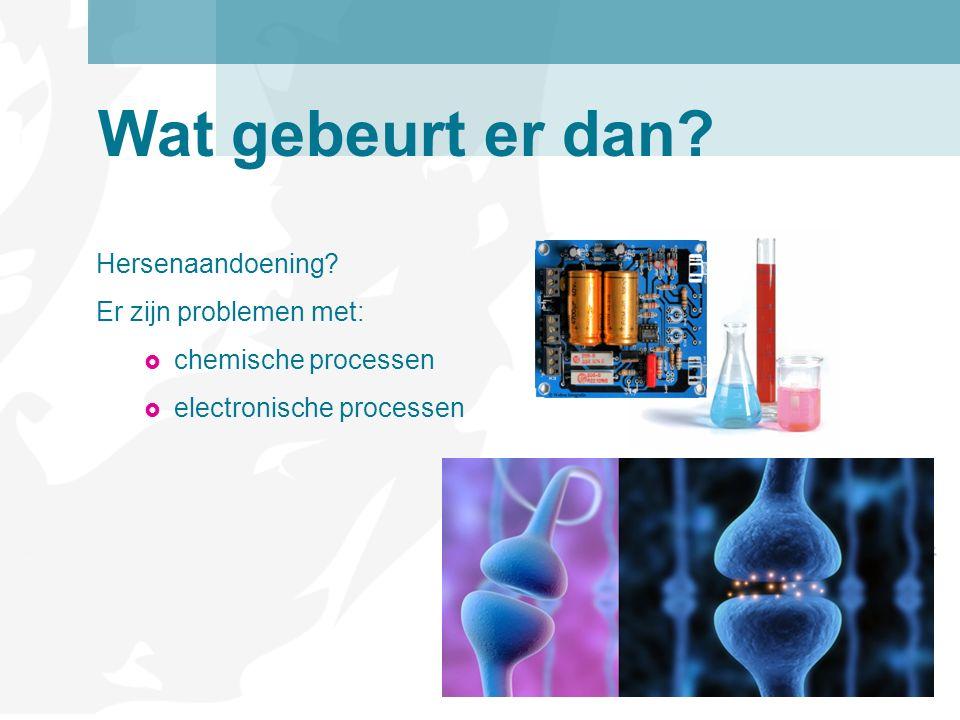 Hersenaandoening? Er zijn problemen met:  chemische processen  electronische processen Wat gebeurt er dan?