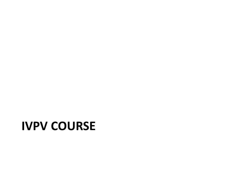 IVPV COURSE