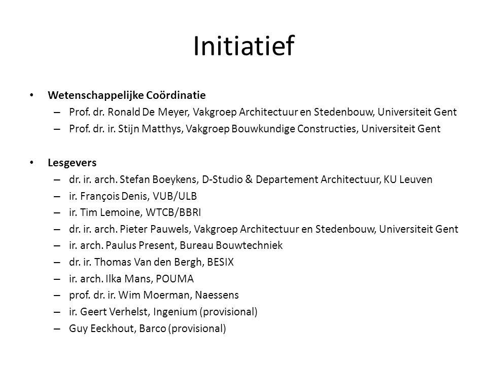 Initiatief Wetenschappelijke Coördinatie – Prof. dr.