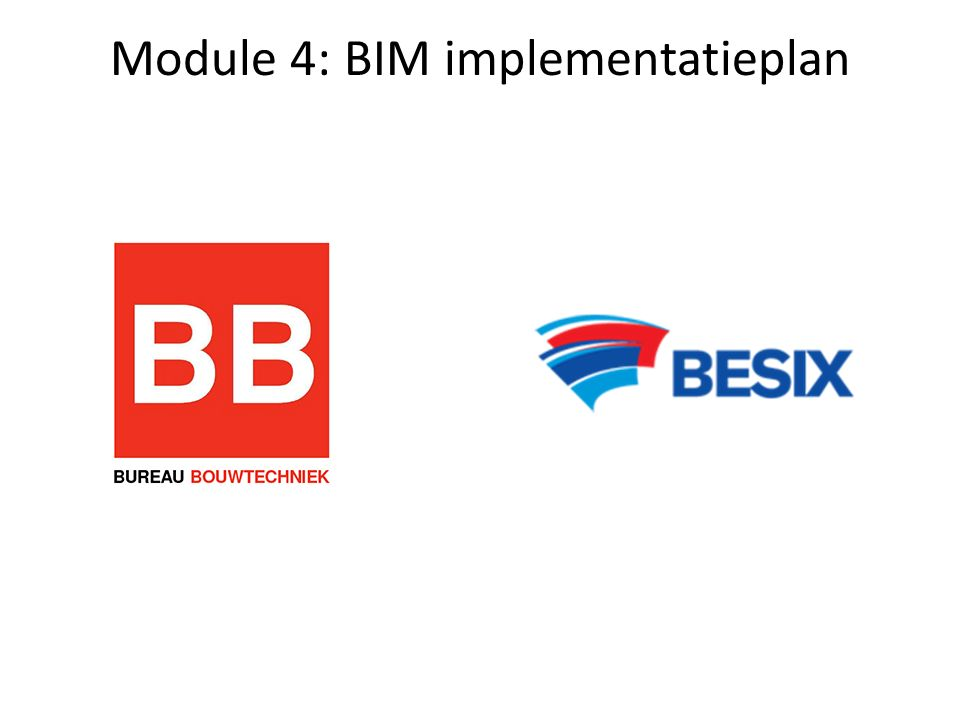 Module 4: BIM implementatieplan