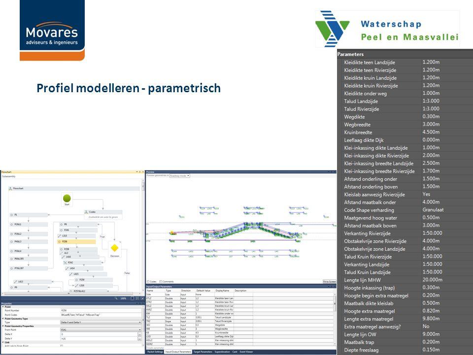 Profiel modelleren - parametrisch